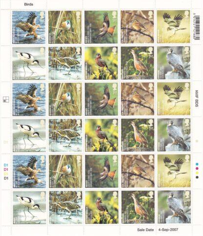 Birds Action for Species 2007 Complete Sheet
