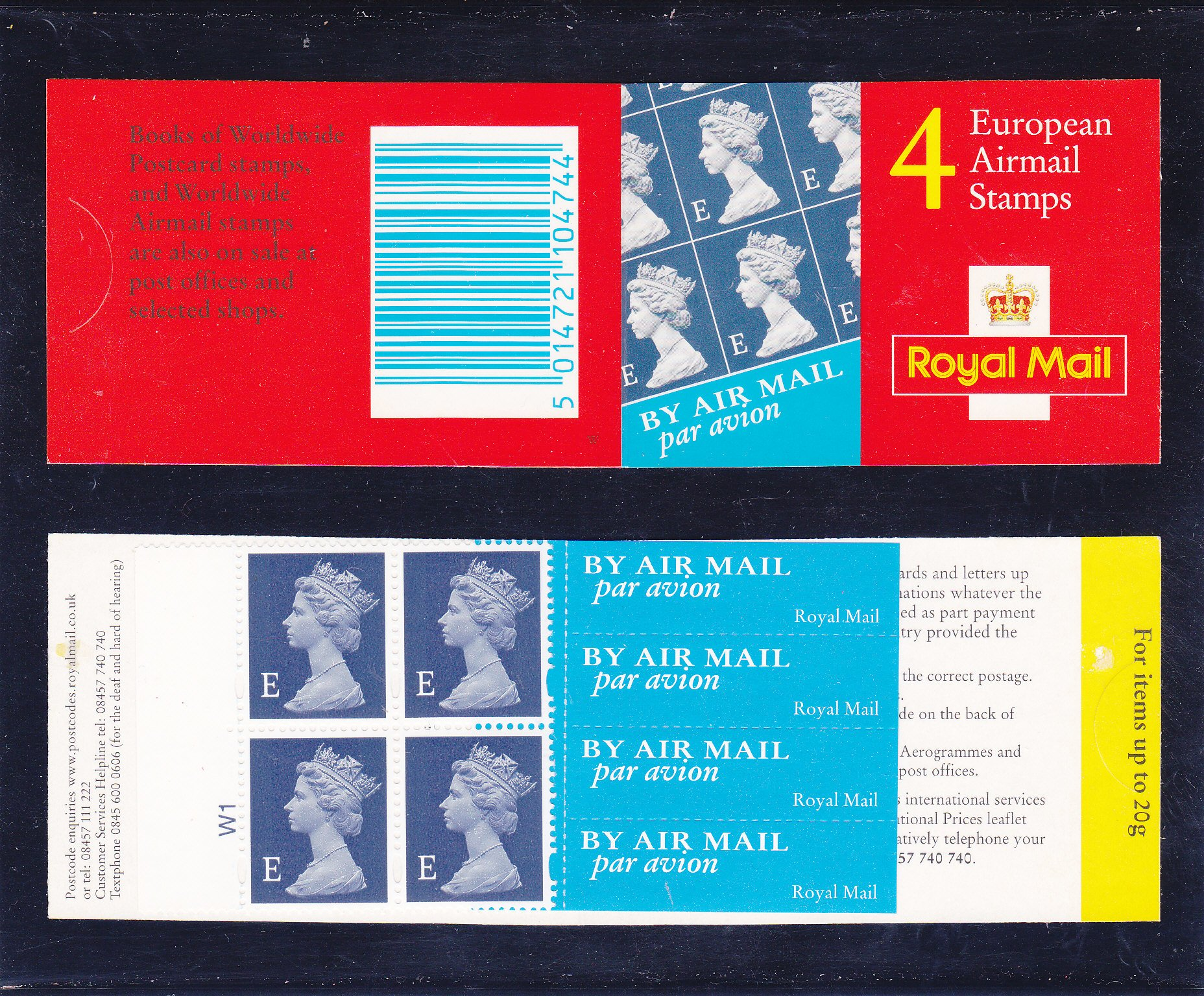 Booklet Airmail HF1a E Value Cylinder 2000 Cylinder 2000