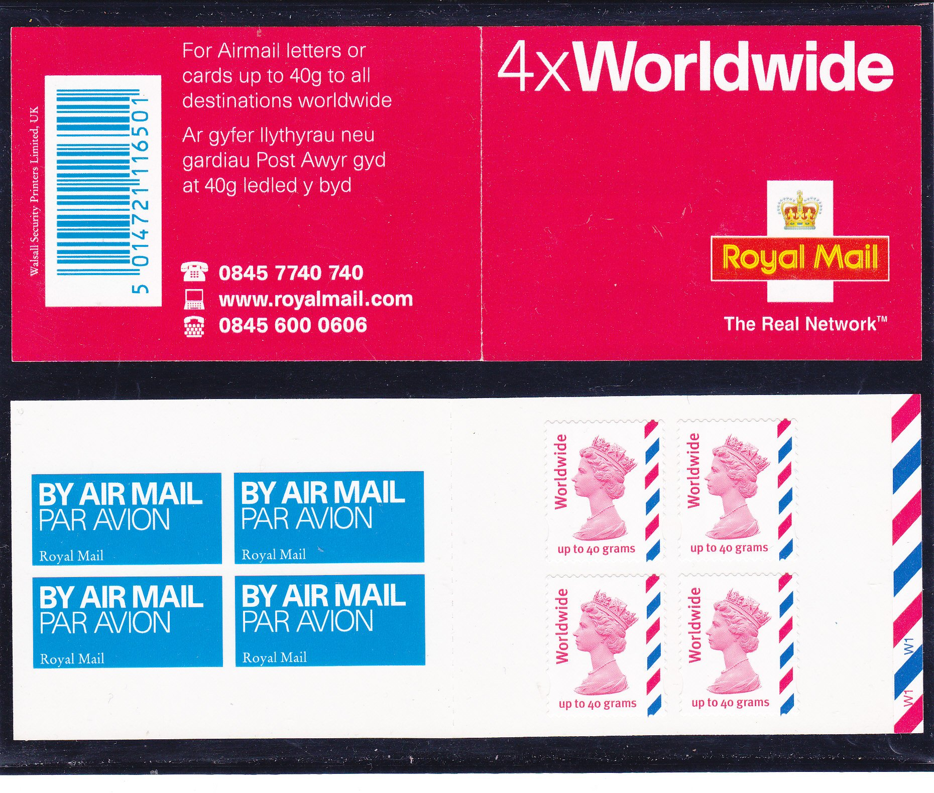Booklet Airmail MJ1 Worldwide Cyl W1 TRN