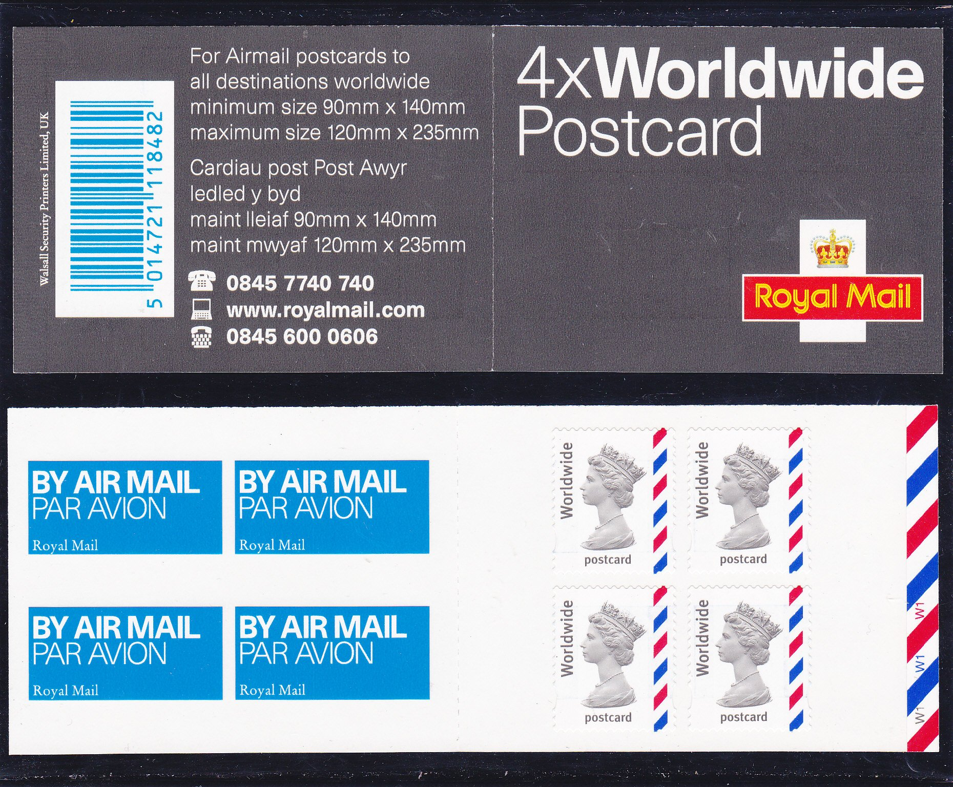 Booklet Airmail MJA1 Postcard Short Band