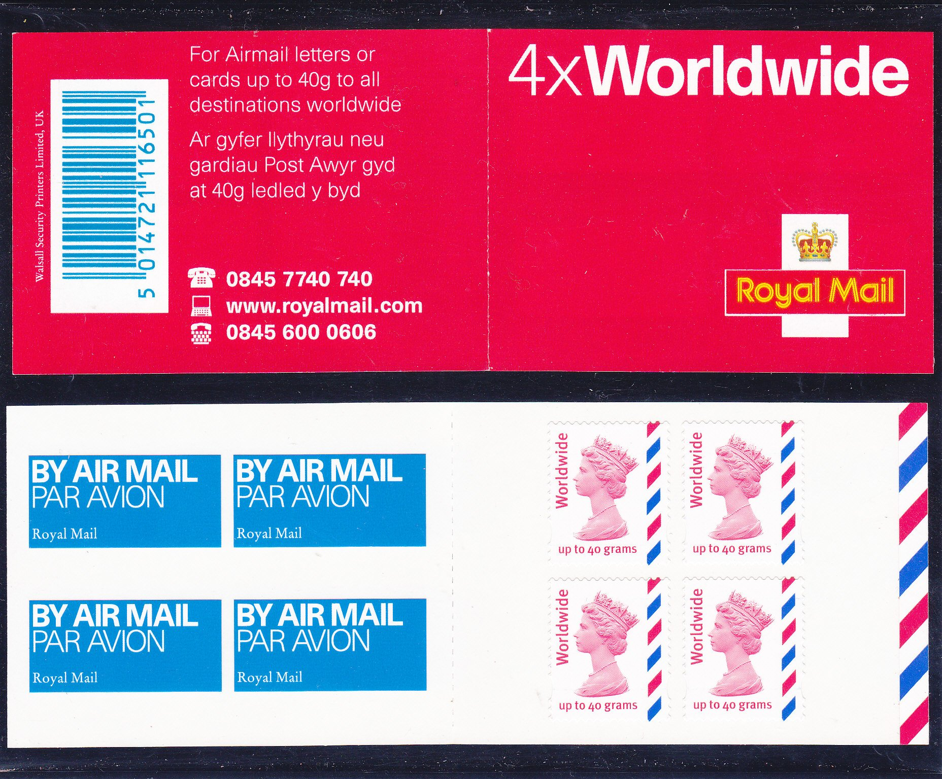 Booklet Airmail MJ2 Worldwide Plain 2004