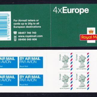 Booklet Airmail MI3 Europe Plain 2010