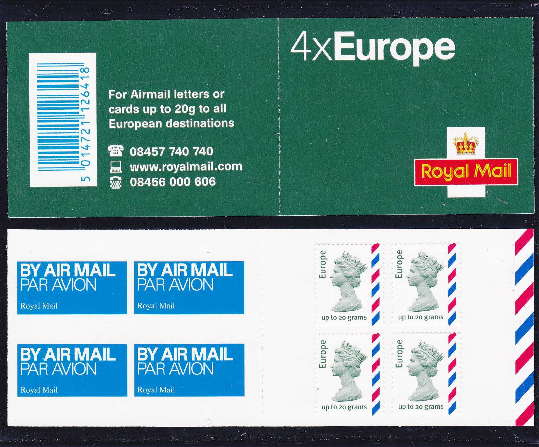 Booklet Airmail MI3 Europe Plain 2010