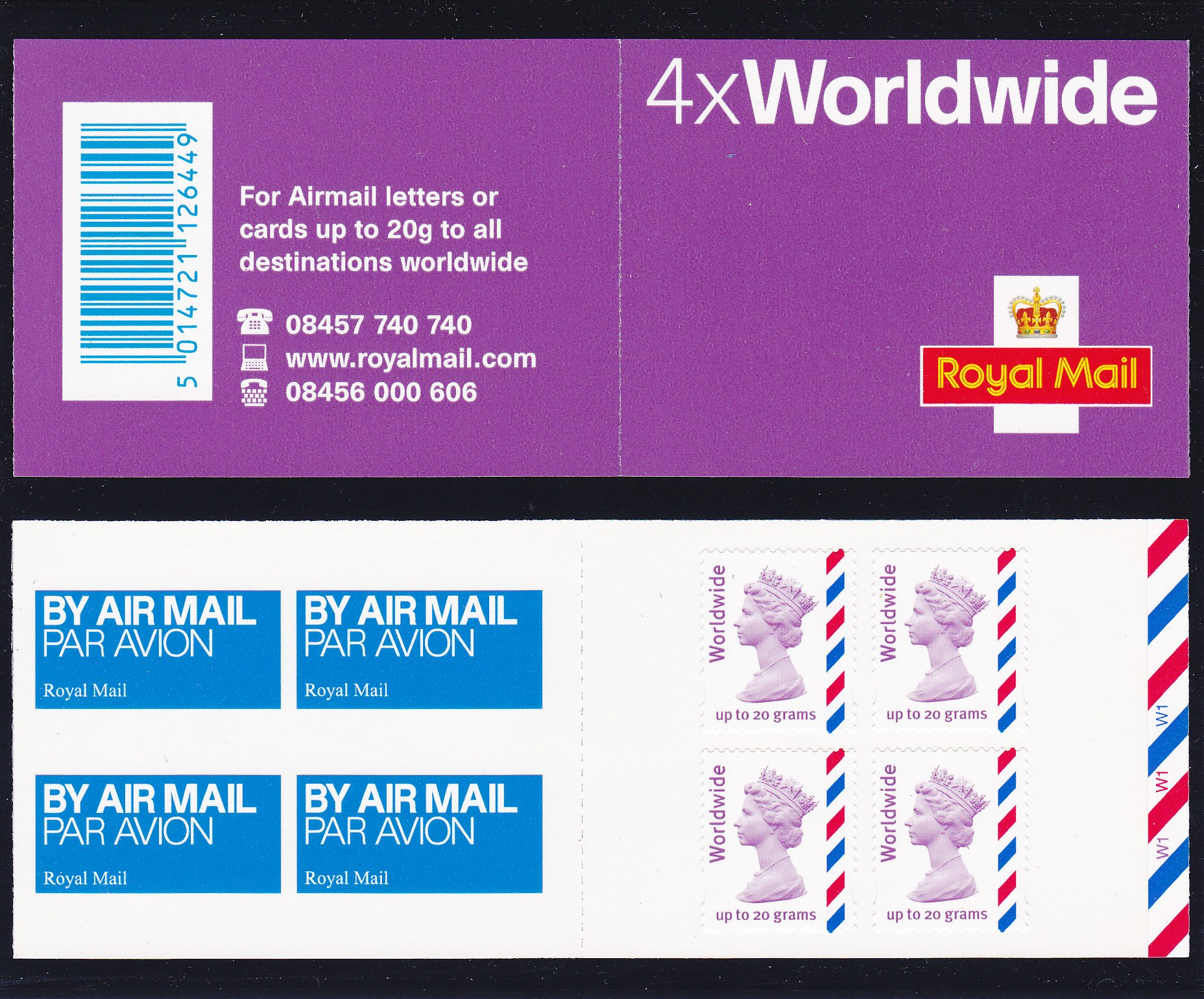 Booklet Airmail MJ3 Worldwide Cyl W1 2010