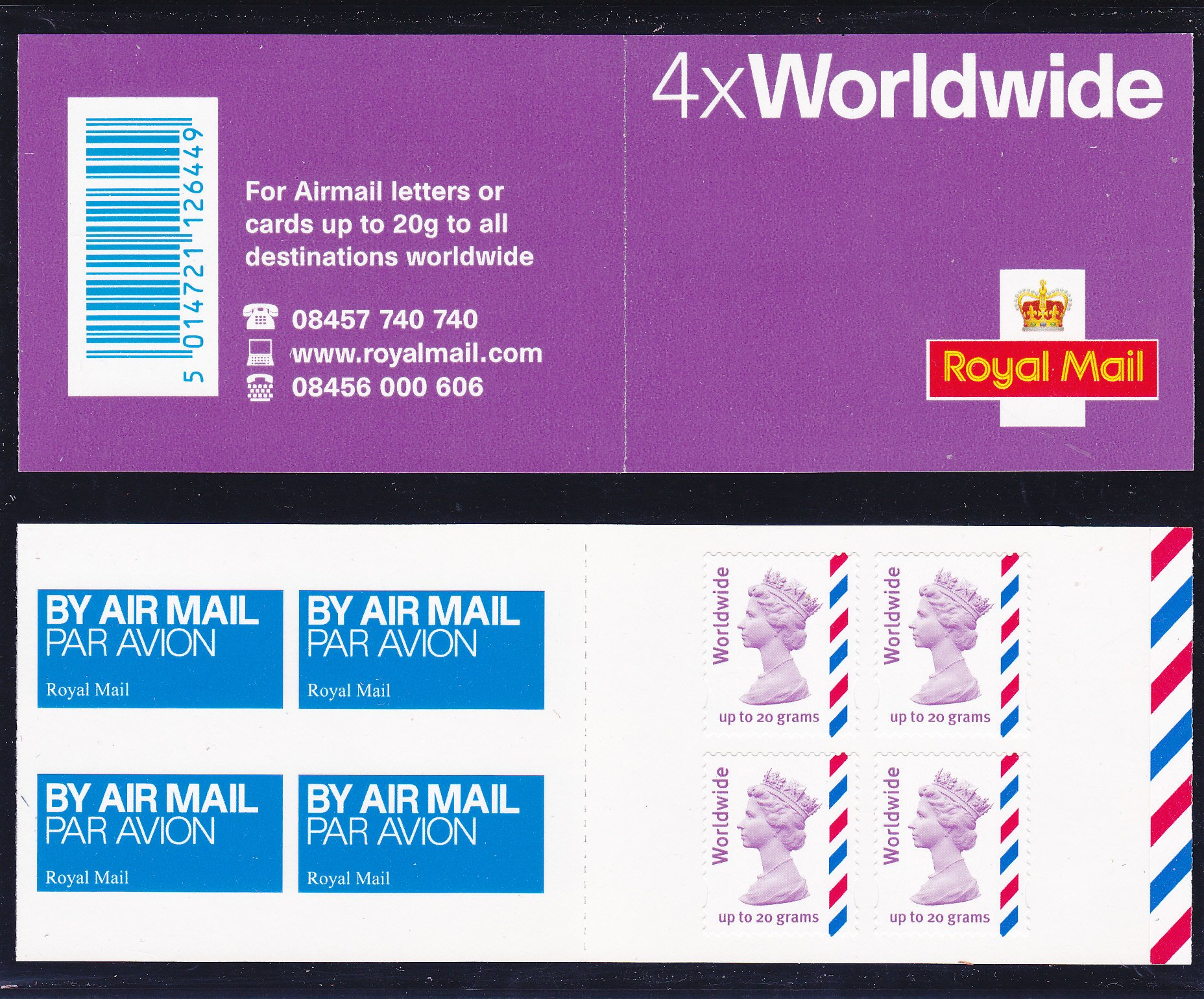 Booklet Airmail MJ3 Worldwide Plain 2010