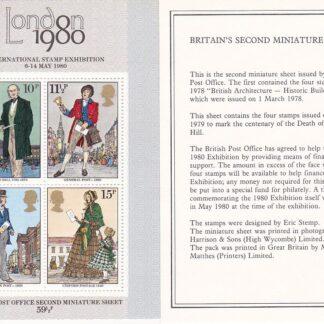 Miniature Sheet MS1099 Sir Roland Hill