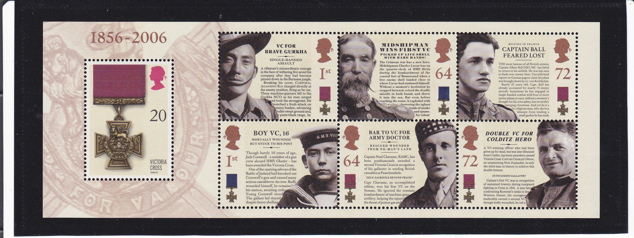 Miniature Sheet MS2665 Victoria Cross