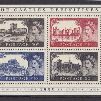 Miniature Sheet MS2530 Castle Definitives.