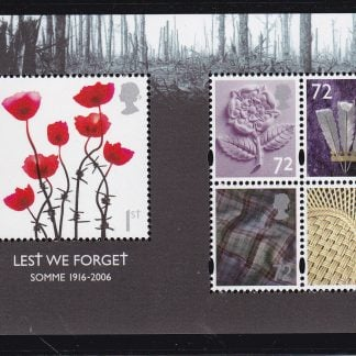 Miniature Sheet MS2685 Lest We Forget 2006