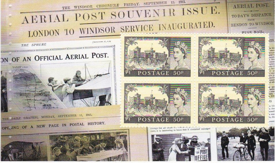 Prestige Pane UNP7 First UK Aerial Post