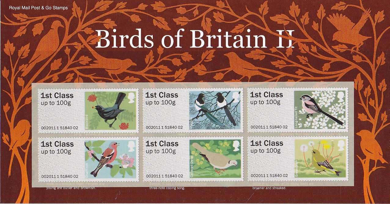 Post and Go Birds of Britain II Second Series