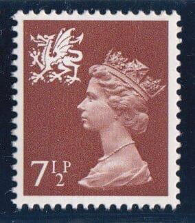 Machin Wales XW35 7½p Single