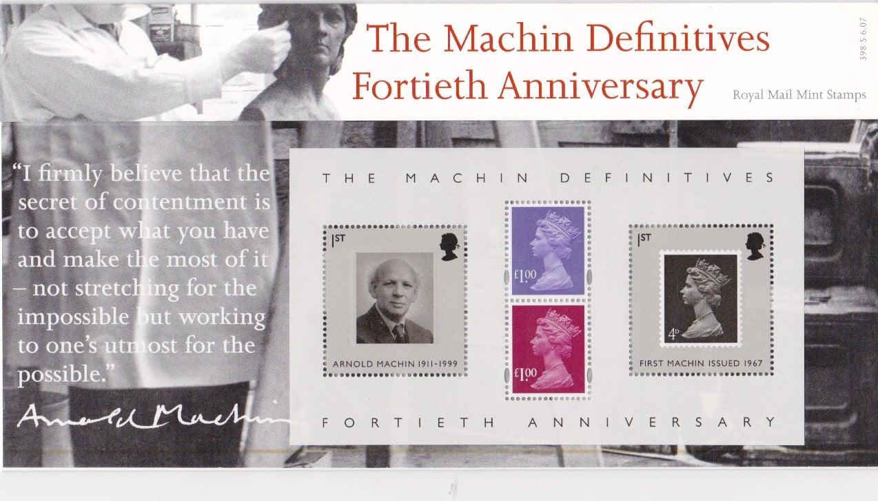 Presentation Pack Machin Definitives 2007