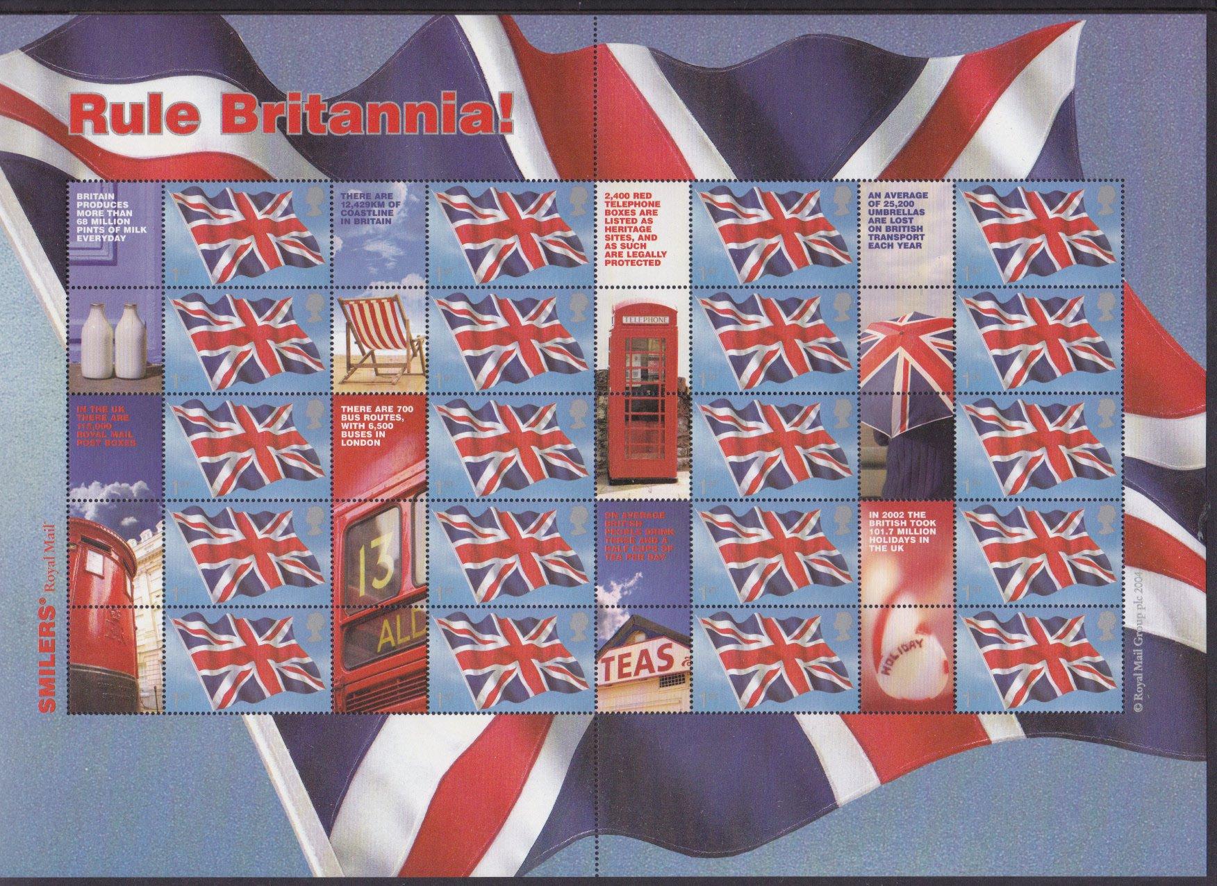 Smilers Sheet LS20 Rule Britannia 2004