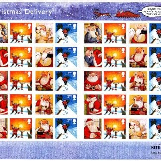 Smilers Sheet LS21 Father Christmas 2004 Royal Mail