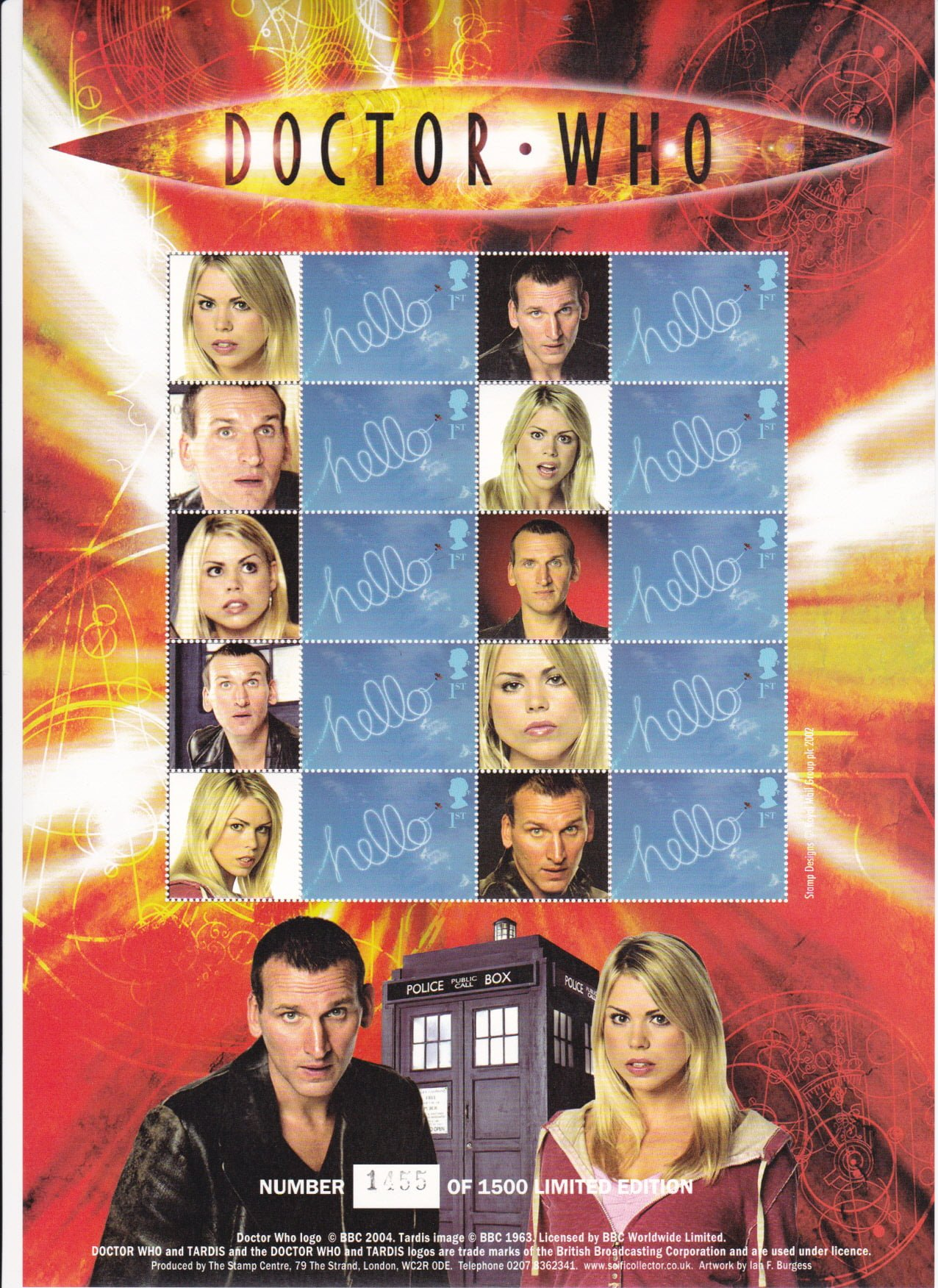 Smilers Sheet BC-058 Dr Who