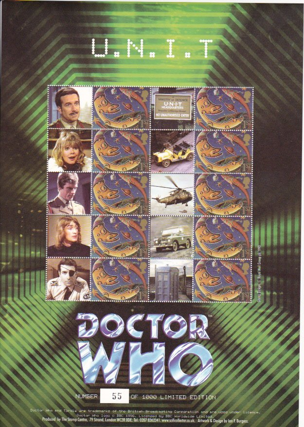 Smilers Sheet BC-057 Dr Who