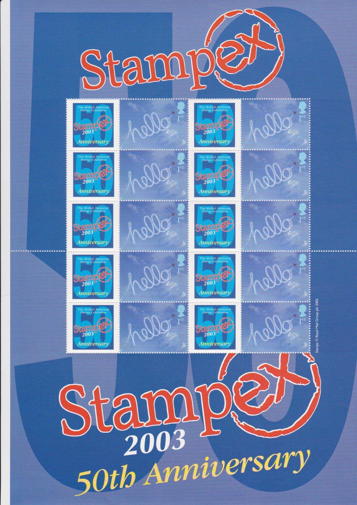 Smilers Sheet BC-010 Stampex 2003