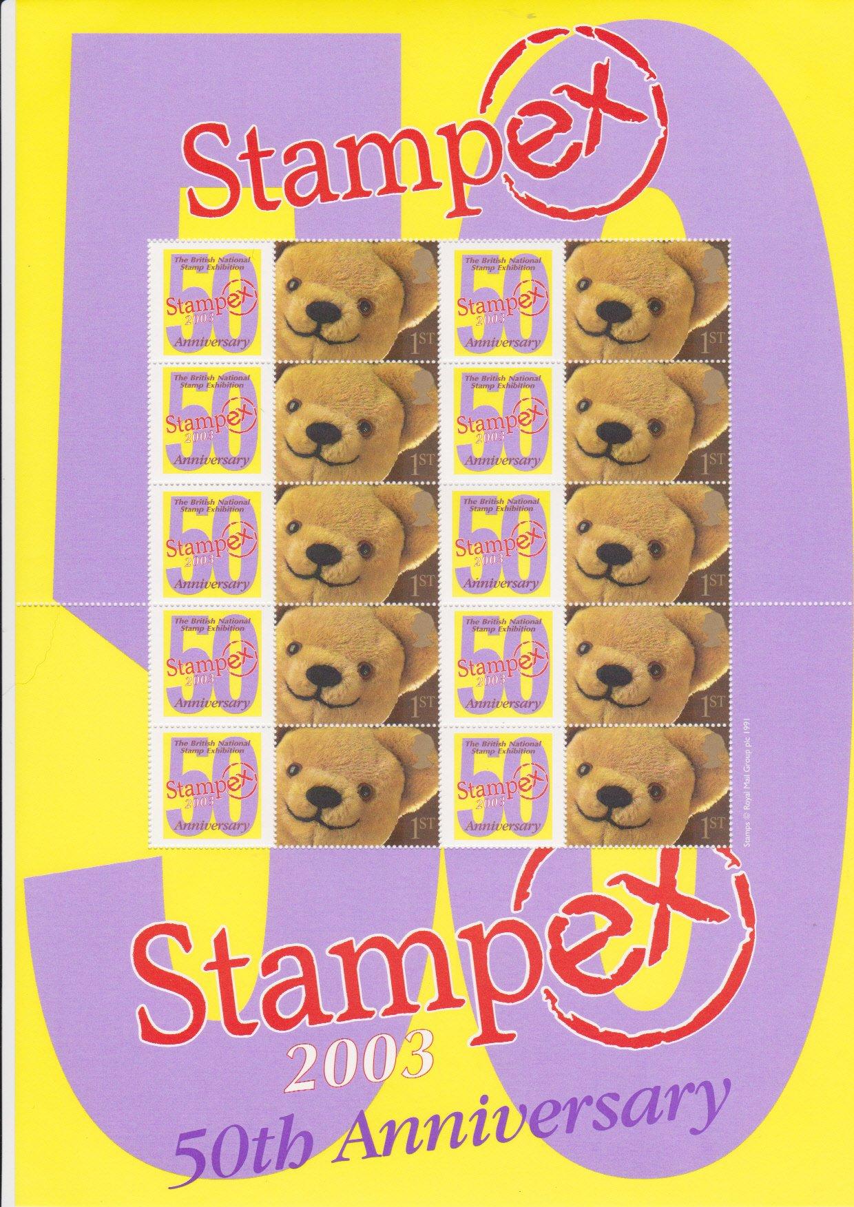 Smilers Sheet BC-011 Stampex 2003