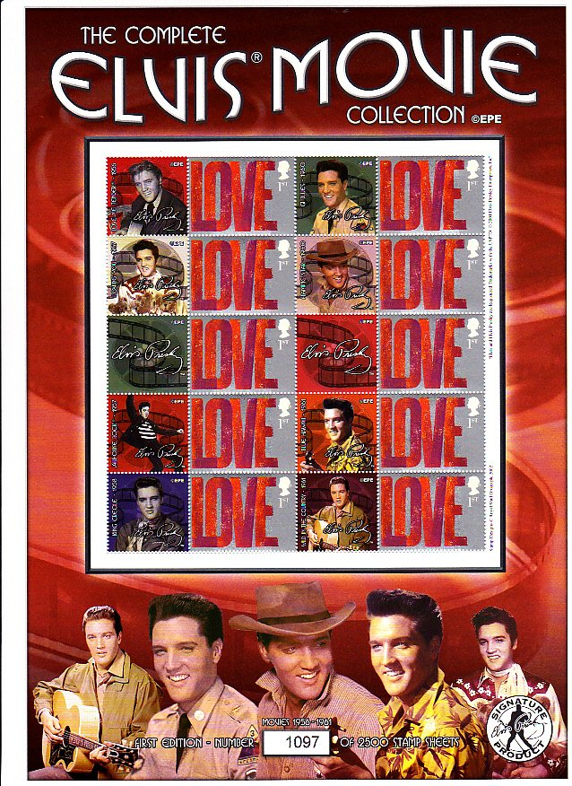 Smilers Sheet BC-034 Elvis Movie Collection