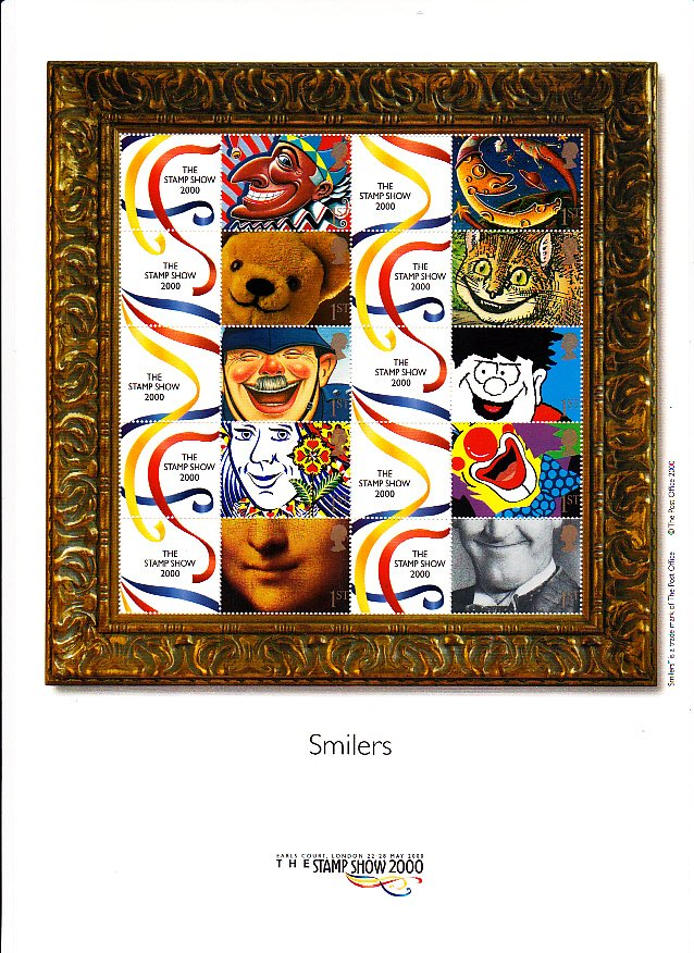 Smilers Sheet LS01 Stamp Show 2000