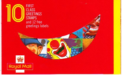 Greetings 1990 1st Class Booklet KX1
