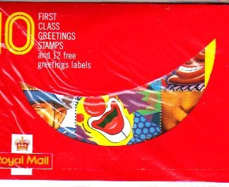 Greetings 1990 1st Class Booklet KX1 Sealed