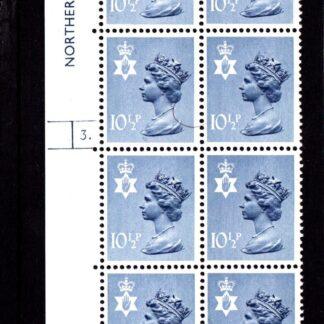 Machin N.Ireland XN38 10½p Cylinder 3