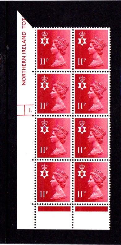 Machin N.Ireland XN39 11p Cylinder 1