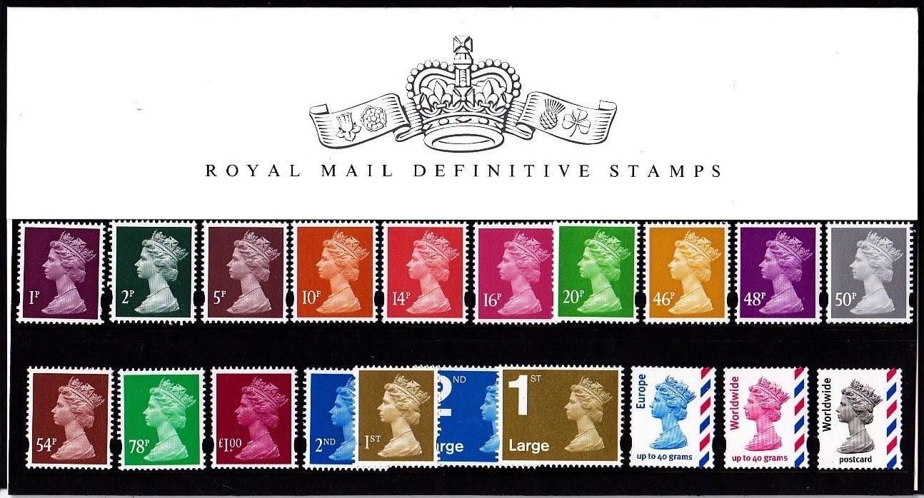Presentation Pack No 77 Machin Definitive Stamps
