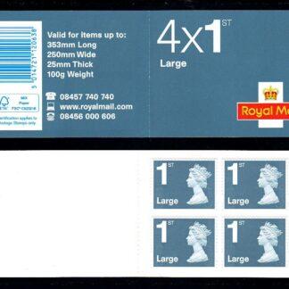 Booklet RB3 Machin 1st Large Plain Jubilee