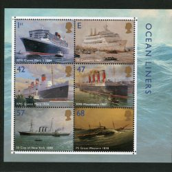 Miniature Sheet MS2454 Ocean Liners