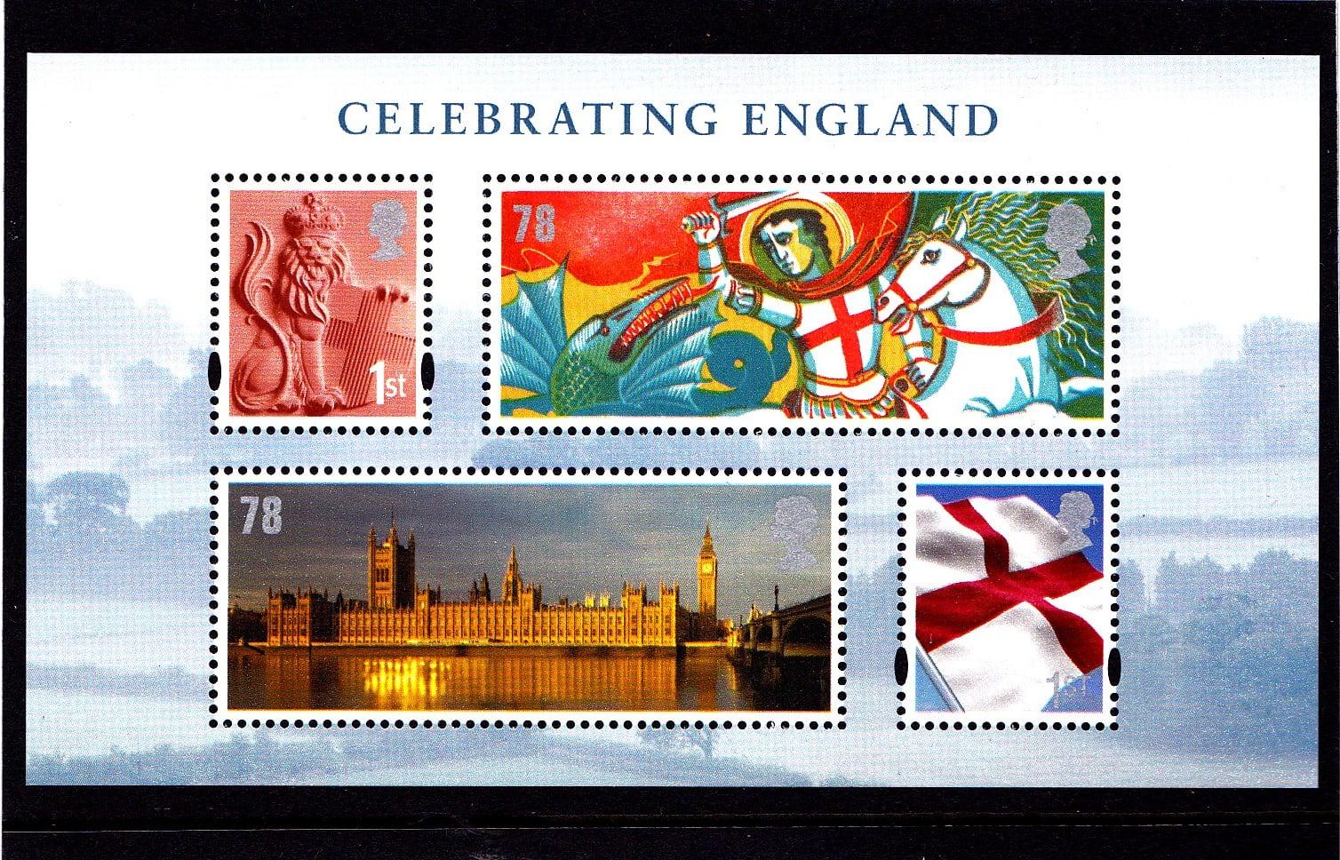 Miniature Sheet MS EN50 England .