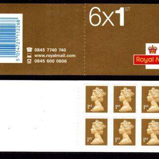 Booklet MB3 Machin Plain 1st Gold Questa