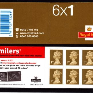 Booklet MB4a Machin Cylinder W3 Smiler's Advertisment
