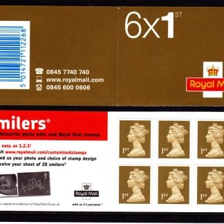 Booklet MB4a Machin Plain Smiler's Advertisment