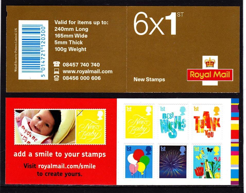 Smilers 2006 1st Class Plain Booklet QA3
