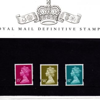 Presentation Pack No 78 Machin Definitive Stamps