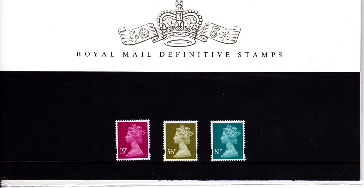 Presentation Pack No 78 Machin Definitive Stamps
