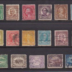 United States of America Early Definitive Stamp Set