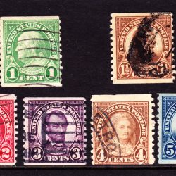 United States of America Set of 6 Coil Stamps