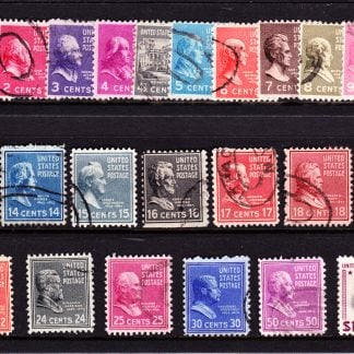 United States of America Presidential Series 1938 and 39