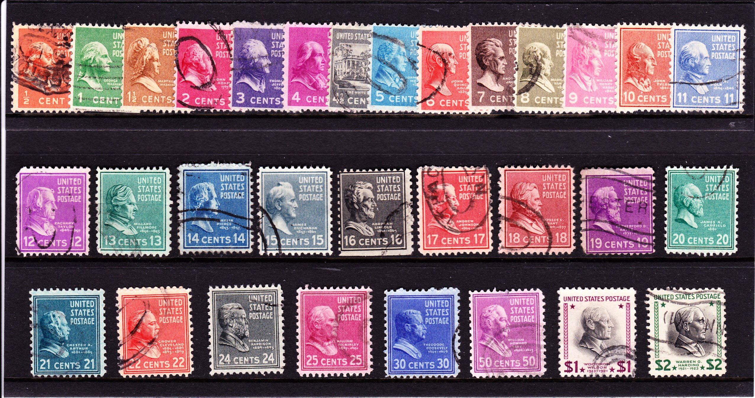 United States of America Presidential Series 1928 and 29