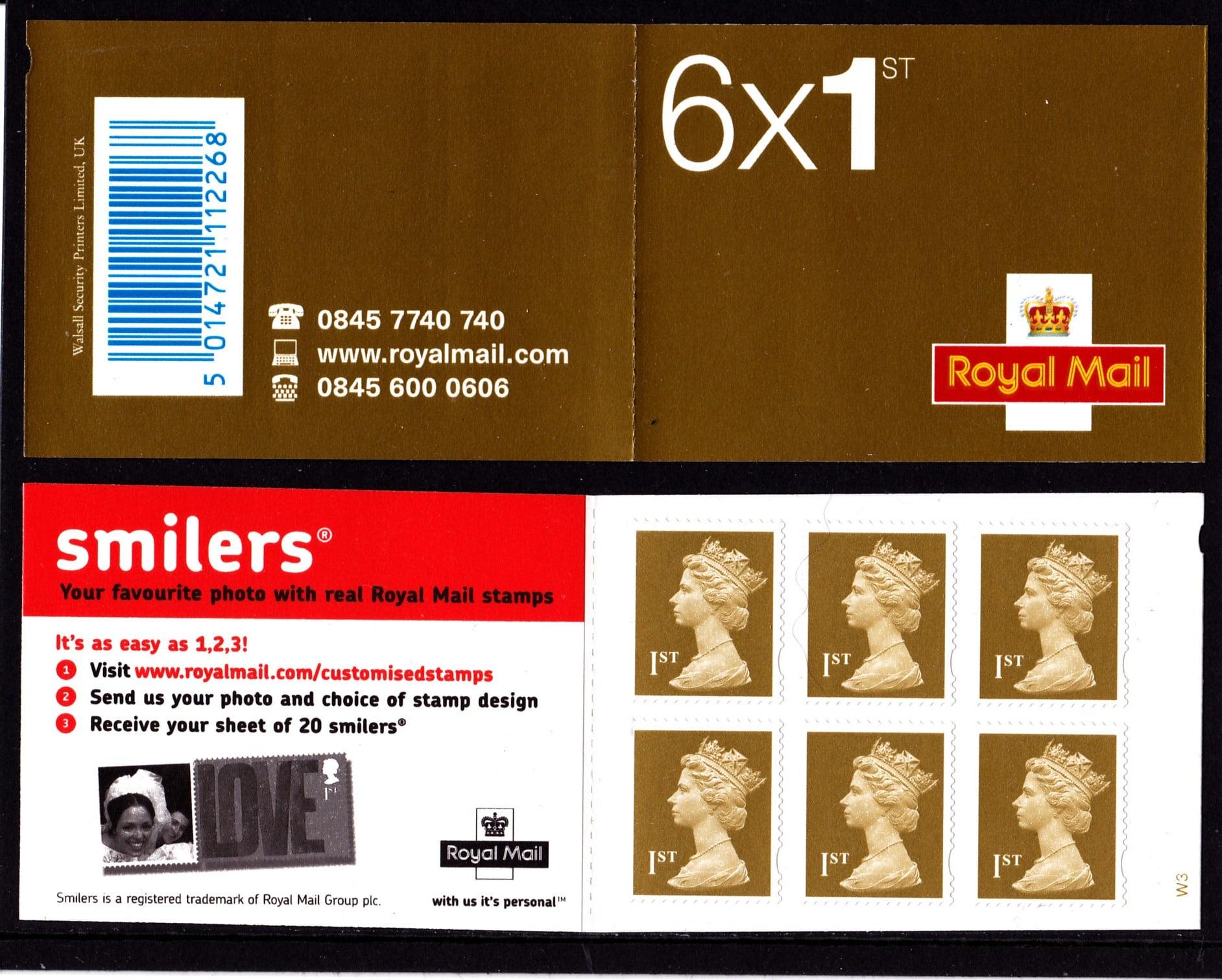Booklet MB4ab Machin Cylinder W3 Smiler's Advertisment