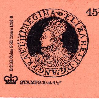 Booklet DS2a Machin 4½p Elizabeth Gold Crown