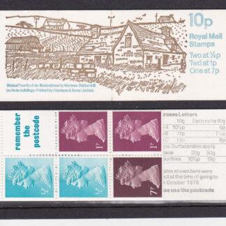Booklet FA7 Machin 10p Multi Value Wales