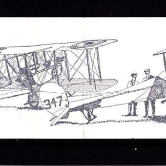 Booklet FE1B Machin 8p Plain Military Aircraft Series