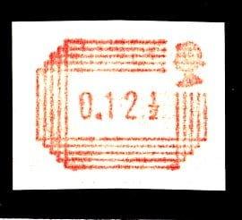 Royal Mail Postage Labels 12½p Printed on Gum Y25b