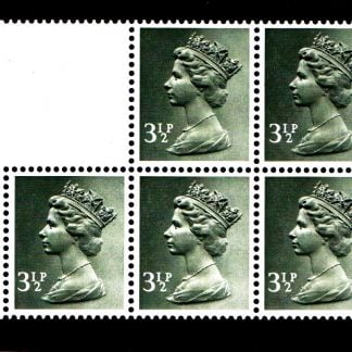 Booklet Pane UB45A 3½p Miscut Central Band 3½p Centre Band Miscut