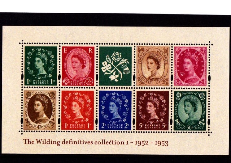 Miniature Sheet MS2326 Wilding Definitives 2002 Error